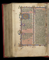 Illuminated Initial And Border At The Mass For St. Andrew, In The Colwich Missal